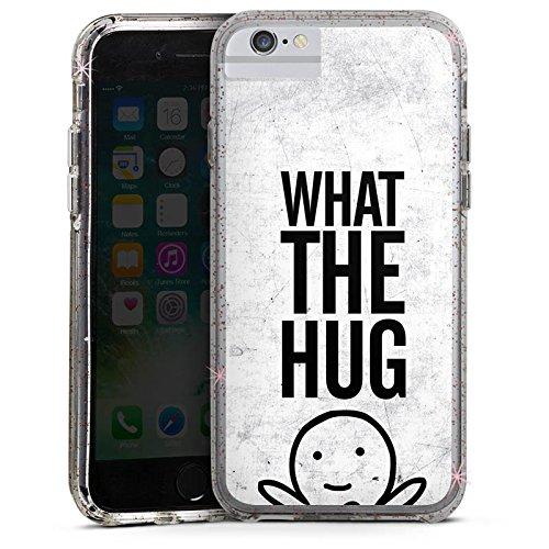 Apple iPhone 8 Bumper Hülle Bumper Case Glitzer Hülle Amour Love Liebe Bumper Case Glitzer rose gold