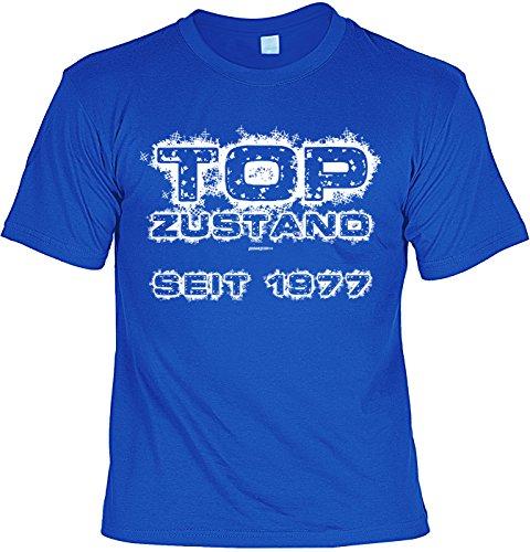 T-Shirt zum 40. Geburtstag T-Shirt Top Zustand seit 1977 Geschenk 40 Geburtstag 40 Jahre Geburtstagsgeschenk 40-jähriger Royalblau