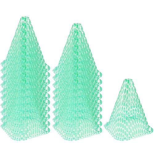 COM-FOUR® 20x Sonnenhut für Pflanzen, Pflanzenschutzhaube Wachstumshilfe, ca. 23 cm hoch