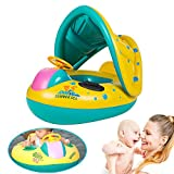 ebuybox® Baby Aufblasbar Schwimmring Schwimmsitz Schwimmhilfe mit Sonnenschutz Babyboo