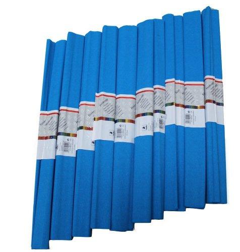 Staufen 617151 - Krepppapier 10 Rollen 50 x 250 cm, himmel - blau