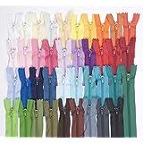 Jajasio - Set de 39 cremalleras (30 cm, colores variados)