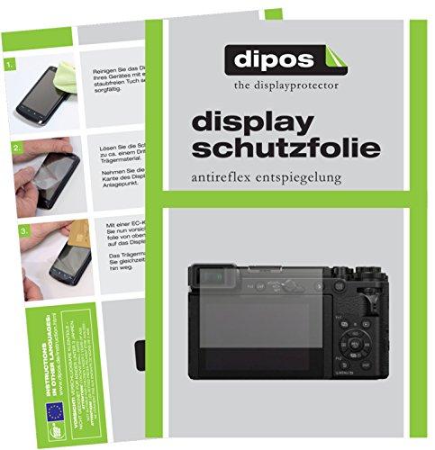 dipos I 6X Schutzfolie matt passend für Panasonic Lumix DC-GX9 Folie Displayschutzfolie