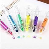 RICISUNG 6pc mignon stylos surligneur de seringue avec 6 couleurs