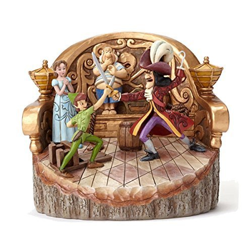 Disney Traditions Carved by Heart Peter Pan Figure, Multi-Colour by Disney