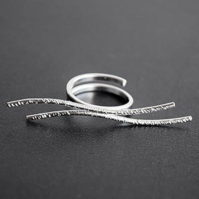925 sterling géométrique fait à la main par Emmanuela, bague minimaliste haute couture, accessoires d'art grec insolites, bijoux originaux faits à la main pour les femmes, bague délicate