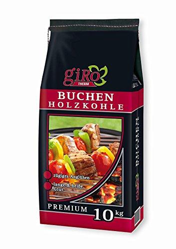 20kg (2x10kg) giRo Buchengrillkohle Holzkohle Buche Grillkohle Buchengrillholzkohle Premium + 20 Stück Anzünder