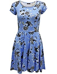 32a3b37bc6e73 Envy Boutique - Combinaison Pantalon Femme Célébrité Fleurs Petite Manche  Robe Patineuse