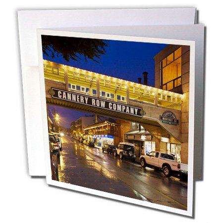 3dRose Gc_88704_1 Grußkarten, Motiv California, Monterey, Cannery Row Area, US05 WBI1133, Walter Bibikow, 15,2 x 15,2 cm, 6 Stück