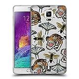 Head Case Designs Tiger, Schmetterling, Und Bienen Patch Styles Soft Gel Hülle für Samsung Galaxy Note 4