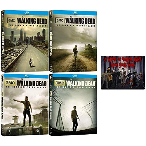 The Walking Dead: TV Series Complete Seasons 1-4 Blu-ray Collection with Bonus Art Card