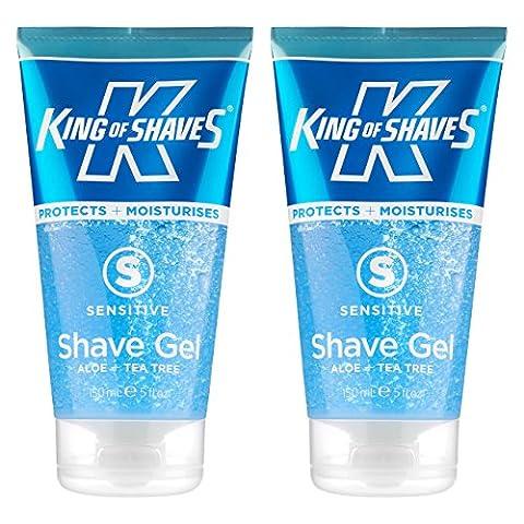 King of Shaves - Gel de rasage pour peaux sensibles - 150 ml - lot de 2