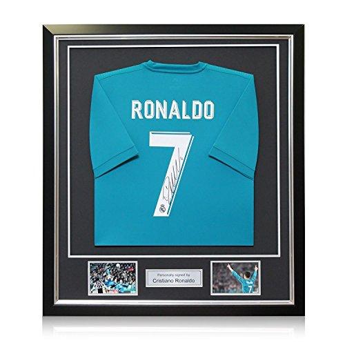 Exclusive Memorabilia Real Madrid Auswärtstrikot von Cristiano Ronaldo Signiert. Im Deluxe-Rahmen (Champions Rahmen Deluxe)