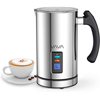 Milchaufschäumer VAVA 240ml 500W Elektrischer Flüssigkeitsaufheizer Milchschäumer mit Funktionen für Heiße und kalte Milch Geräuschloser Betrieb, Antihaftbeschichtung