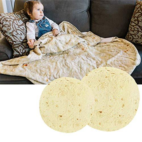 la Decke, Sommer Runde Burritos Burritos Decke Mais Pfannkuchen Pfannkuchen Decke Klimaanlage mit Decken Quilt, Runde Tortilla Neuheit werfen Essen Decke (Größe : 180cm) ()