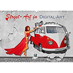 Street-Art in Digital-Art by Mausopardia (Wandkalender 2019 DIN A3 quer): Humorvolle Street Art mit Pin up Girls (Monatskalender, 14 Seiten )