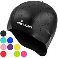 Proworks Swimming Cap, Silicone Water Resistant Swim Cap for Adults, UV Protective Swimwear, Bathing Caps Suitable for Men & Women