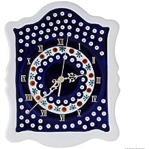 Original Bunzlauer Keramik Wanduhr 22.3x29.7x3x0 cm Dekor 41
