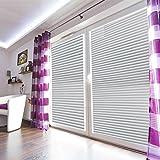 Aingoo Jalousien Plissee Fensterschutzfolie statische haftende Milchglasfolie 90x200cm 025