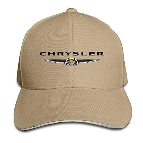 xcarmen-runy-chrysler-logo-adjustable-hunting-peak-sandwich-hat-cap-natural