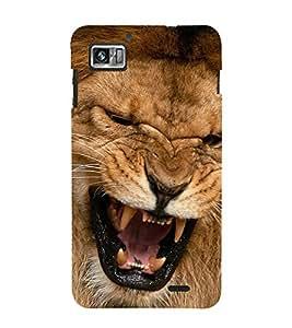 Fiobs Designer Phone Back Case Cover Lenovo K860 :: Lenovo IdeaPhone K860 ( Lion Face Angry )
