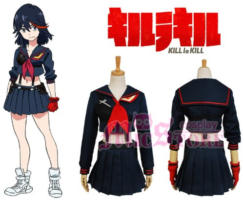 KILL la KILL Ryuko Matoi Cosplay Costume Groesse (Ryuko Kostüm Cosplay)