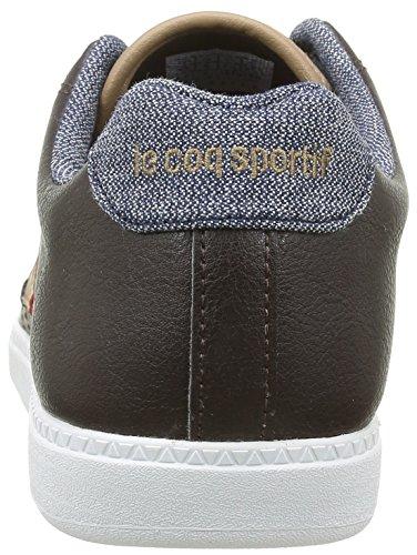 Le Coq Sportif Courtcraft S, Baskets Basses Femme Marron (Reglisse)