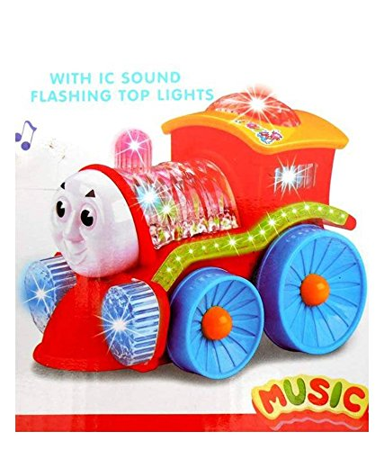 Turban Toys Toy Train Engine with Light Bump And Go Action-tur13