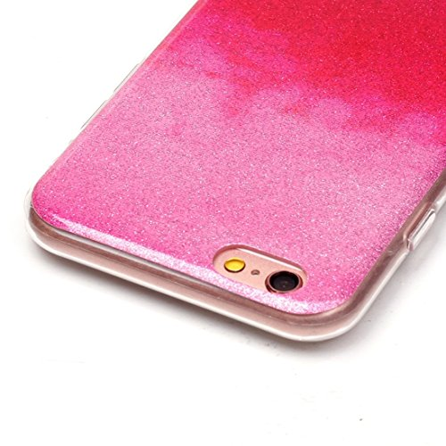 Für iPhone 6 / 6s, IMD Color Fades Glitter Powder TPU Schutzhülle DEXING ( SKU : IP6G8686M ) IP6G8686E