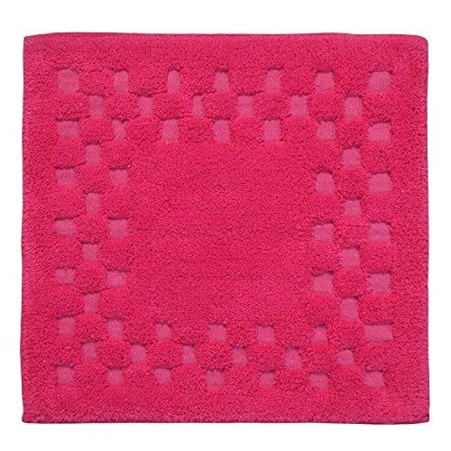 homescapes-check-border-square-shower-mat-cerise-pink-soft-100-cotton-1200-gsm-washable-bath-rug-wit