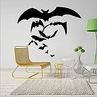 Xue Halloween Wand Decal, Fledermaus, Wohnzimmer, Schlafzimmer, Kunst-Dekor, Abnehmbare, Tapeten, Wandgemälde, Aufkleber, Kunst-Dekor, Selbstklebendes Papier