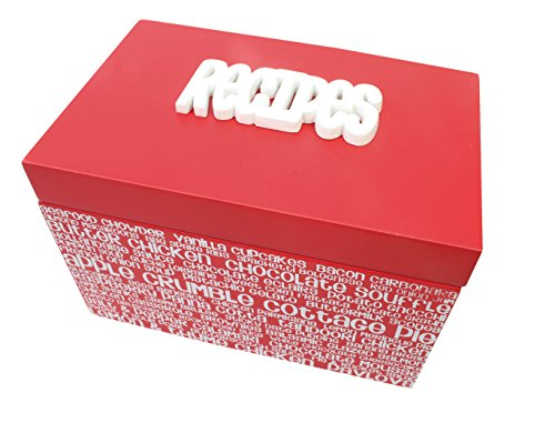 Splosh - Red & White RECIPE BOX / Recipe Organiser, used for sale  Delivered anywhere in Ireland