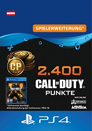 2.400 Call of Duty : Black Ops 4-Punkte - 2400 Points DLC   PS4/PS3 Download Code - österreichisches Konto (Ps3 Call Duty 4)