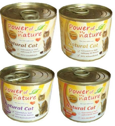 katzeninfo24.de 12x200g Power Of Nature Natural Cat – Mix Nassfutter Katzenfutter Getreidefrei 95% Fleisch