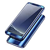 Samsung Galaxy S8 Hülle, 3 in 1 Ultra Dünner PC Harte Case 360 Grad Ganzkörper Schützend Anti-Kratzer Anti-dropping Schutzhülle für Galaxy S8 Plus (Samsung Galaxy S8 Plus, Blau)
