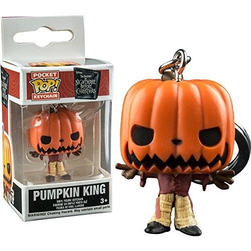 lptraum vor Weihnachten Schlüsselanhänger mit Ring Pumpkin King, Mehrfarbig (FK6577) ()