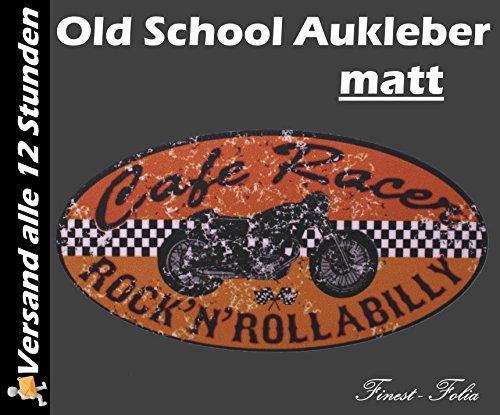 1x Cafe Racer Old School Aufkleber von Finest-Folia® Sticker Rat Rockabilly Retro Bobber Ace Kult #2