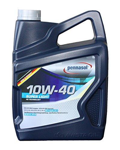 Pennasol Super Light SAE 10W-40 Motoröl, 5 Liter (Synthetisches Motoröl 5 Liter)