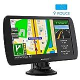 AWESAFE 9 Pouce GPS Automatique de Voiture 8GB Appareil de Navigation Écran HD Tactile Intégrer Le Système des Instructions Vocales Multi-Languages...
