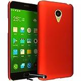 Ownstyle4you Cover funda Case Carcasa para Meizu MX4 Pro incl. protector de pantalla Rojo