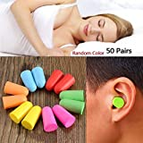 #6: Sellify Generic 50 Pairs Soft Classic Foam Ear Plugs for Sleep Noise Reduction Foam Earplugs for noise Insulation Ear Protection