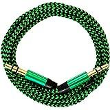 321ElectroniX® 1m Premium Nylon AUX Audiokabel Klinke 3,5 auf Klinke 3,5 [grün]