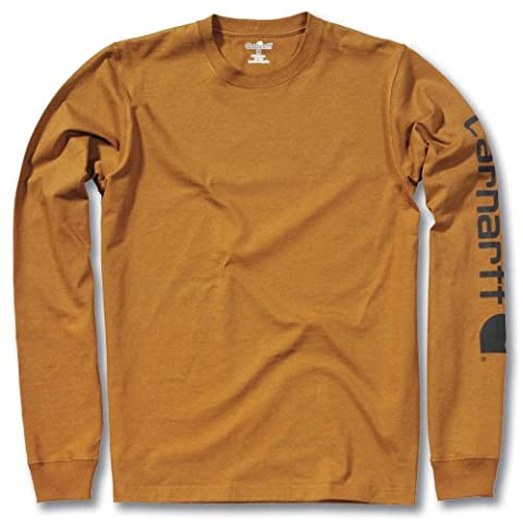 Carhartt .EK231.BRN.S007 Sleeve Logo T-Shirt, X-Large, Brown