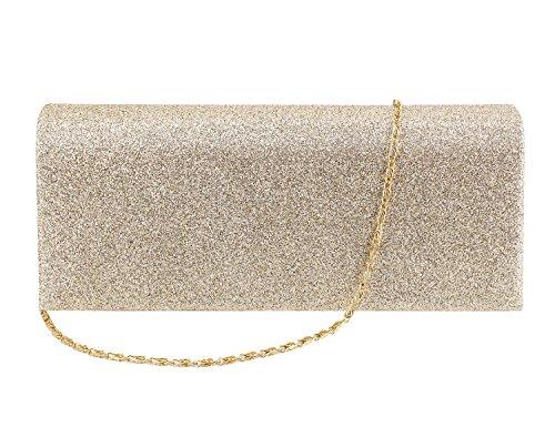 Multi-mo, Borsetta da polso donna oro Gold Gold