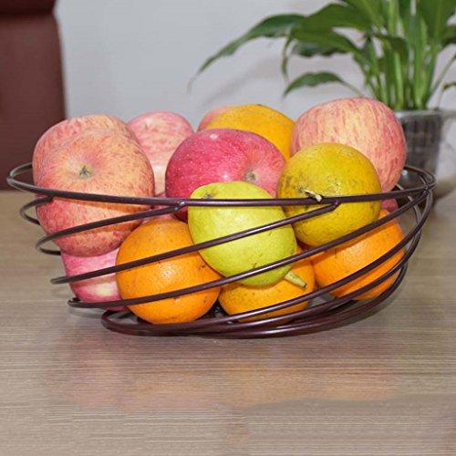Cs Panier d'égouttement d'ameublement Le Panier d'entreposage de Fruit de Grande capacité (Color : Gold)