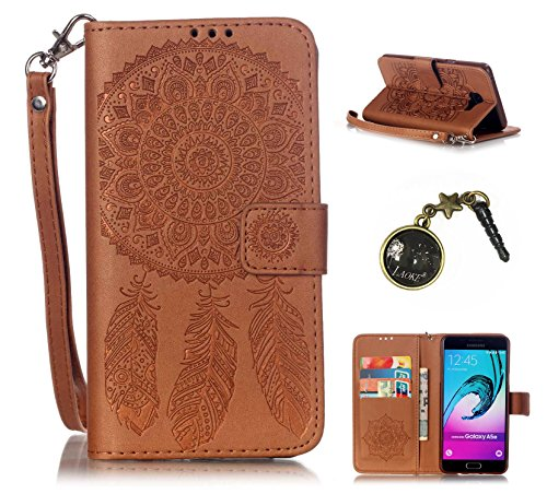 Preisvergleich Produktbild PU Silikon Schutzhülle Handyhülle Painted pc case cover hülle Handy-Fall-Haut Shell Abdeckungen für Smartphone Samsung Galaxy A5 (6) SM-A510F (2016) +Staubstecker (1AE)