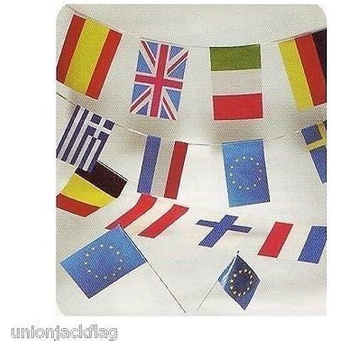 Europeo Banderín - 33 pies Macizos (10 M) 28 Europeo países + 1EEC