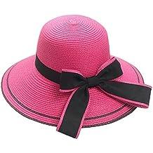 Amazon.es  sombrero paja niño - Blanco 628e80b802d