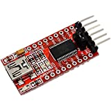 SODIAL(R) Module FT232RL FTDI 5V 3.3V Convertisseur USB a TTL Adaptateur Rouge