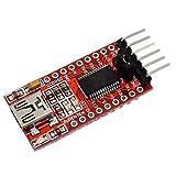 SODIAL(R) FT232RL Modul 5V 3.3V FTDI USB zu TTL Konverter Adapter Rot